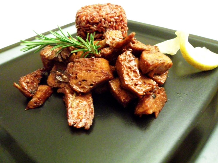 Seitan all'aglio e limone
