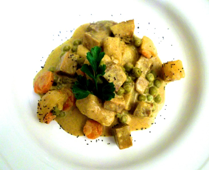 Verdure con seitan al curry